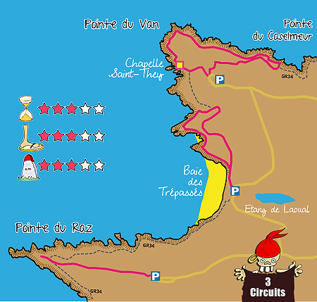 Carte Bretagne Pointe Du Raz.Pointes Du Raz Et Du Van Balades Et Randonnees Finistere Sud