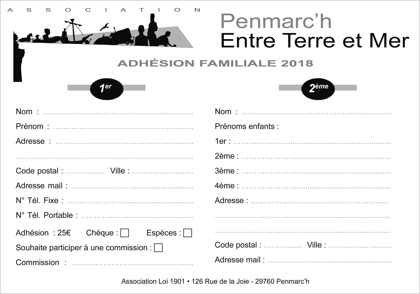 Association entre terre et mer penmarch